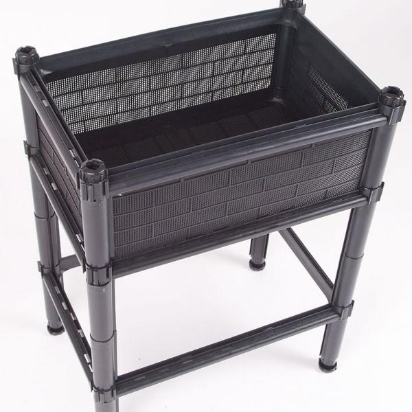 SS4K Small Raised Planter Black